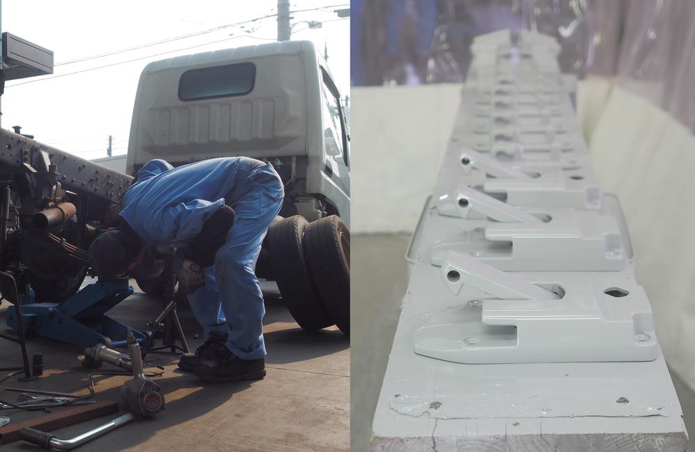 冷凍車の板金修理・メンテナンス、全てお任せください